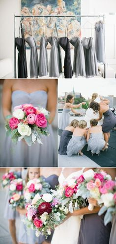 Love this photo of the bridesmaids tying the bride's bustle. - when we renew!