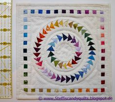 ed to enter my miniature Circle of Geese quilt as my second entry.