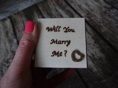 Will You Marry Me  Proposal Ring Box, Small Wooden Engagement Ring Box, Boho Proposal Ring Box, Box For Ring, Rustic Proposal Ring Box by GracesLacesWedding on Etsy