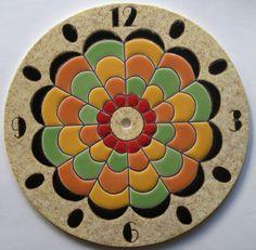 Mandala, Clock Painting, Air Dry Clay, Toscana, Stained Glass Art, Room Paint, Ceramic Art, Terracotta, Sculpture Art