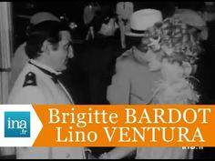 """Brigitte Bardot et Lino Ventura sur le tournage de """"Boulevard du rhum"""" -..."""