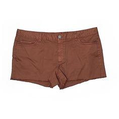 Ann Taylor LOFT Denim Shorts (71 DKK) ❤ liked on Polyvore featuring shorts, brown, short jean shorts, jean shorts, short denim shorts, cotton shorts and brown shorts
