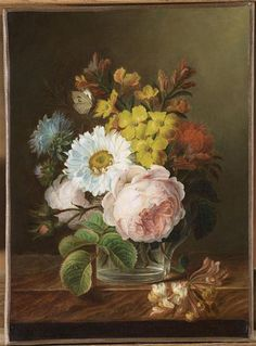 Anne Vallayer-Coster, Bouquet of Flowers Art Floral, Flower Prints, Flower Art, Jean Antoine Watteau, Art Et Nature, Jean Baptiste, Claude Monet, Printmaking, Still Life