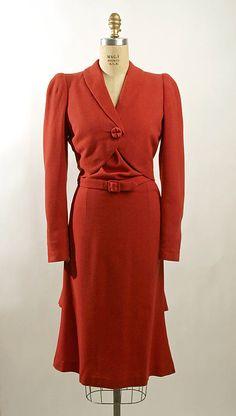 Henri Bendel Suit - 1939 - by Henri Bendel (American, founded 1895) - Wool - @~ Watsonette