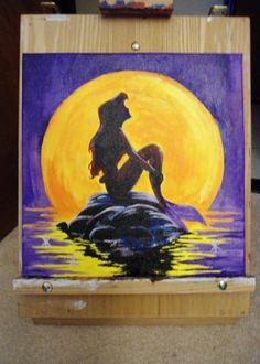 Little Mermaid Disney   Commission Acrylic by ThePaintedNerd, $50.00