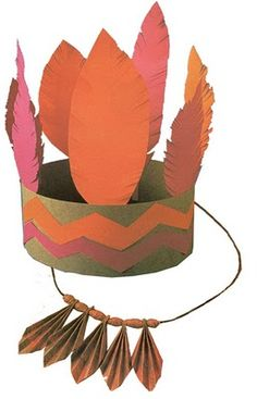 Couronne indienne - thème ; ouverture au monde Indian Thanksgiving, Thanksgiving Arts And Crafts, Thanksgiving Activities For Kids, Craft Activities For Kids, Preschool Crafts, Carnival Crafts, Carnival Ideas, Indian Theme, Turkey Craft