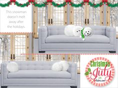 Snowman Pillows: Christmas in July with Fabric.com