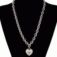 """Saints 18"""" Charm Necklace #Saints #NOLA #Jewelry"""