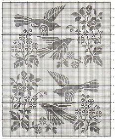 crochet em revista: Pássaros à janela