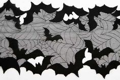 Black Lace Bats Table Runner