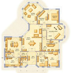 Bungalow | Tolle Idee mit Arbeitszimmer und Kinderzimmer (bei mir: Studio) direkt nebeneinander. Sims Building, Building Plans, Building A House, Castle House, Apartment Plans, Courtyard House, New Home Designs, Plan Design, Dreams
