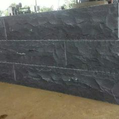 basalt black Natural split Exterior Wall Cladding Exterior Wall Cladding, Basalt Stone, Hardwood Floors, Flooring, House Ideas, New Homes, Natural, Black, Wood Floor Tiles