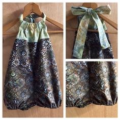 Batik Spring/Summer Romper, size 2t by SewMeems on Etsy