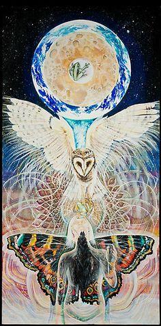 Arte Visionario Sagrado Por Heather Thomas. Copias, carteles y tarjetas disponibles en www. Ecoartopia.org sobre Redbubble.com