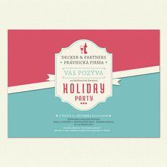 Pozvite hostí na firemnú párty vo veľkom štýle s našou jedinečnou pozvánkou.