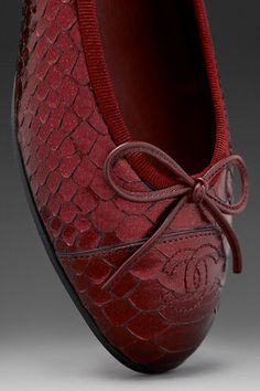 Chanel Flats in Maroon