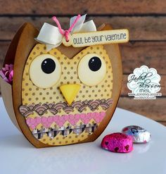 Time for another challenge over at Jaded Blossom. This month is a Valentine Theme. Valentine Theme, Valentine Treats, Valentines, February Challenge, Monthly Challenge, 3d Paper Crafts, Paper Crafting, Goodie Bags, Treat Bags