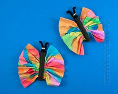 Butterfly Craft: Watercolors and Clothespins