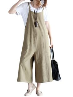 Brand: O-NEWE Specification: Color:Yellow,Green Style:Casual,Fashion Pattern:Pure Color Material:Cotton,Polyester Season:Spring,Summer Package included: 1*Jumpsuits