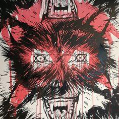 """""""Primal rage"""" / akryl på lerret / 100x100cm"""