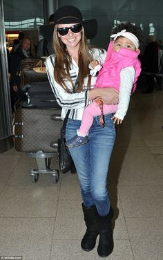 Here she comes: Derry born Nadine Coyle was clearly delighted after touching down in Irela...