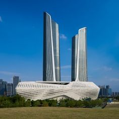 Zaha+Hadid's+Nanjing+International+Youth+Cultural+Centre+nears+completion