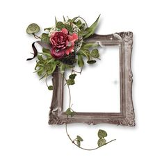 florju_romantic_cluster (3).png ❤ liked on Polyvore featuring frames, fillers, borders, flowers and picture frame