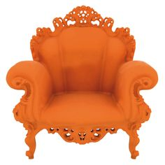 """The Magis Proust Armchair by Alessandro Mendini is based on his original Proust Chair for Studio Alchimia in called """"Poltrona di Proust"""". It's design was romantic and baroque on which an endless number of polychromatic points were p Art Furniture, Milan Furniture, Orange Furniture, Dream Furniture, Funky Furniture, Furniture Design, Orange You Glad, Orange Is The New, Chair One"""