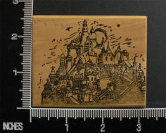 Castle on Hilltop Buildings Architecture Rubber Stamp by Cherry Pie | eBay