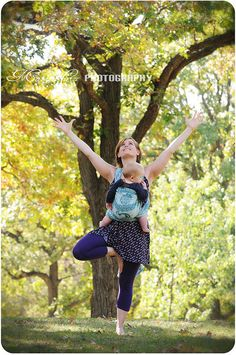 Babywearing + Yoga. Mother's Day morning!  I absolutely love this.  #ergobaby #idealmothersday #babywearing