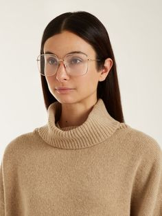 6771306661d2 DIOR EYEWEAR Stellaire01 square-frame glasses £260 Glasses Outfit