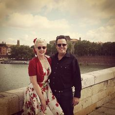 Jitterbug Doll's Amanda Lee took France by storm in the Red Roses Vargas Dress!
