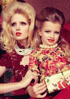 """Mother's Christmas"": Kourtney Roy Does a Very Miles Aldridge Christmas for Vogue Nippon"