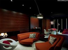 organic shapes, a peaceful and warm lounge feel @ Carezza Suite - Alberto Giacometti