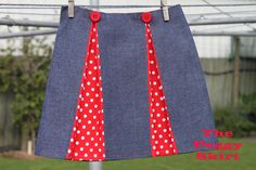 The Peggy Skirt Tutorial from the Sew Delicious page- Awesome tutorial that makes this look so doable!