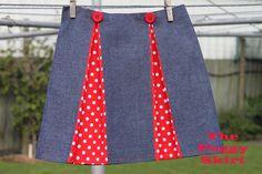 Kick pleat skirt