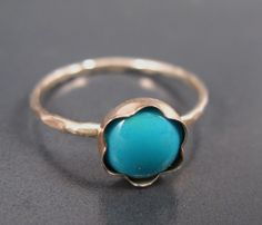 Turquoise ring, skinny, December birthstone ring, Turquoise stacking ring, Turquoise  jewelry for everyday on Etsy, 120.48₪
