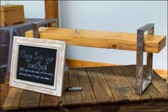 Solid wood bench with steel legs by JosejiCreations on Etsy, $450.00