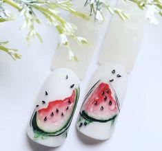 Nails Design, Spring Nails, Cute Nails, Pop Art, Polish, Nail Art, Watercolor, Cartoon, Summer