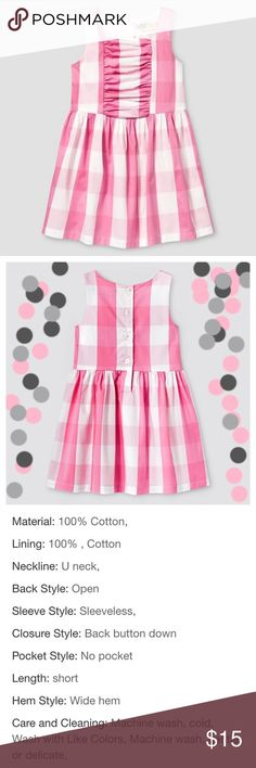 Genuine Kids OshKosh Buffalo Plaid Gingham Dress Brand new! Cute little 100% cotton dress that can be worn in summer or paired with a cardigan and tights for a cute fall look. Ships same day if ordered by 10:00 CST. Bundle 3 items and save 15% Osh Kosh Dresses