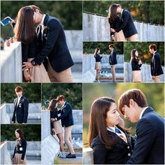They get closer from the heirs korean drama