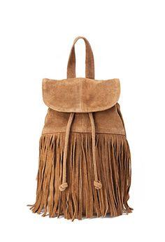 Fringed Suede Backpack | FOREVER21 - 1000120503