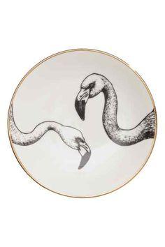 Printed porcelain plate
