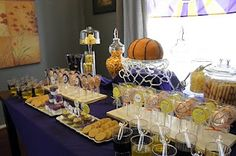 laker party, change the colors and make it a Clipper party!