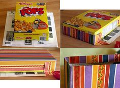 cereal boxes Reused | cereal box gift bag | Reused Items