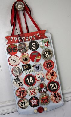 another one with a muffin tin Christmas Paper Crafts, Diy Christmas Gifts, Christmas Holidays, Mini Cupcake Pan, Griswold Family Christmas, Christmas Countdown Calendar, Advent Candles, Advent Calenders, Christmas Wonderland