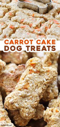 Homemade Carrot Cake Dog Treats These easy Homemade Dog Treats are made with some of your favorite carrot cake ingredients, but healthy for your fur baby! Homemade Carrot Cake, Homemade Dog Food, Homemade Cakes, Homemade Dog Cookies, Cake Dog, Dog Cakes, Easy Dog Treat Recipes, Healthy Dog Treats, Dog Biscuit Recipes