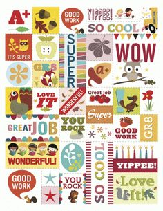 Fall reward stickers you can print from Scholastic Instructor