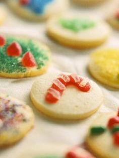 Decorate these easy Christmas treats using colorful sugars, gumdrops, and other candies.