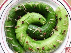 Recettes d'une Chinoise: Salade de concombre Suo Yi 蓑衣黄瓜 suō yī huáng guā